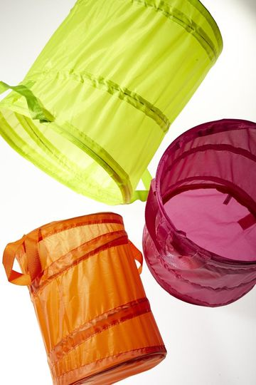 Colorful clothing Hampers