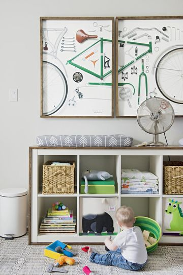 Up-cycled Bicycle in Nursery