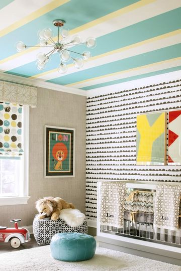 Dotted Window Shade in Gender-Neutral Room