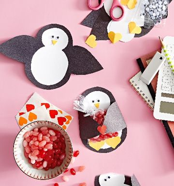 Penguin Craft for Valentines Day