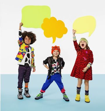 Three Kids Holding Up Thinking Signs
