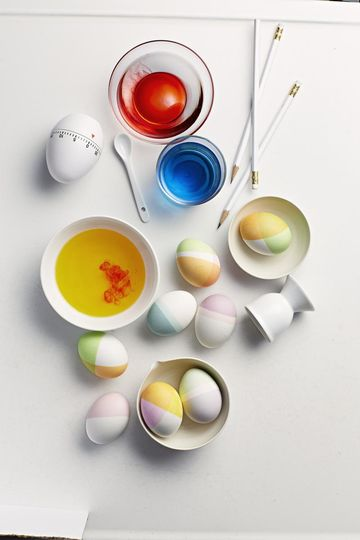 color blocking easter eggs