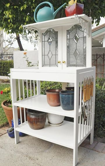 A Green Thumb's Potting Bench