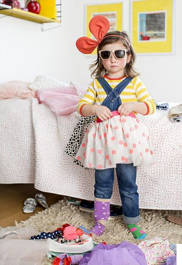 Little Girl with Mismatching Outfit