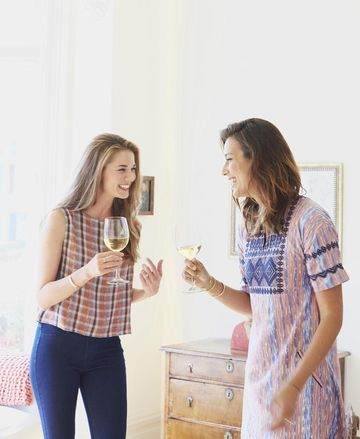 Two Moms Drinking Wine