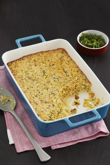 Thanksgiving Dishes Fresh Corn And Chive Pudding
