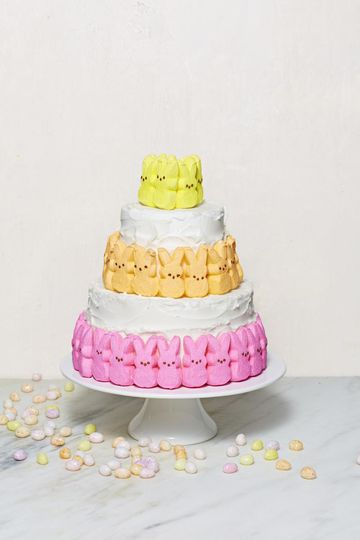 Peep Treats Cottontail Cake Rainbow Marshmallow Boarder