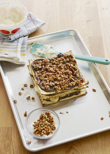 Sweet Treats Matzo Chocolate Banana Layer Cake