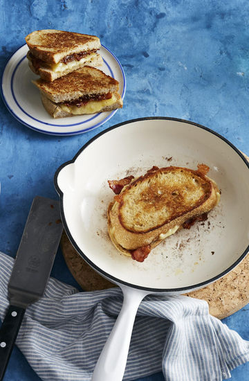 Grilled Cheese With Bacon and Fig Jam