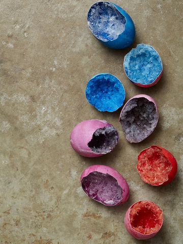 Blue Pink Purple Red Crystal Geode Eggs