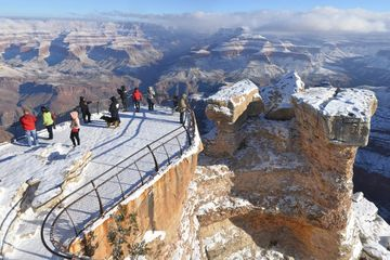 Families Taking Pictures on the Grand Canyon Arizona