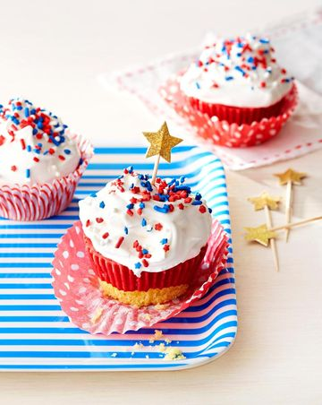 July 4 Treats Independence Day Ice Cream Cupcakes