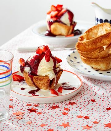July 4 Treats Red White and Blueberry Sundae Cups