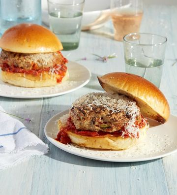Healthy Grill Italian Turkey Burgers