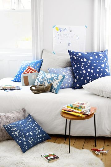 Kid Decor Splattered Pillows