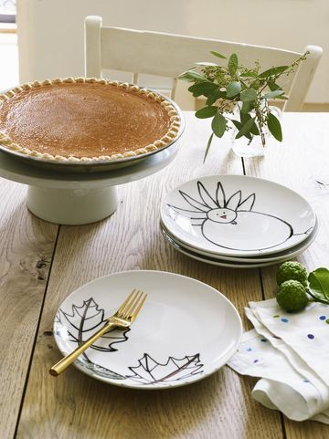 Thanksgiving Table Crafts Turkey Tray
