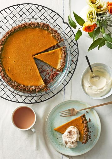 Real Pumpkin Pie With Gingersnap Crust