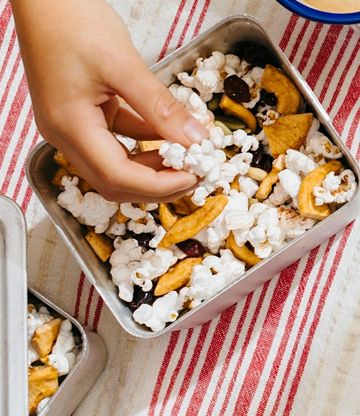 Fall Picnic Cranberry Apple Popcorn Trail Mix