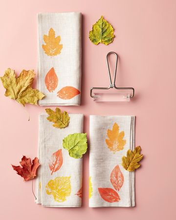 Fall Nature Crafts Leafy Linens