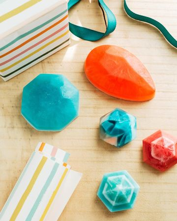 Gifts Kids Make Gem Soaps