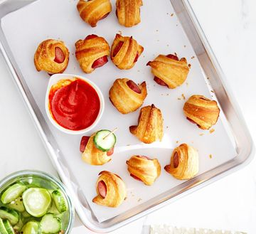 Holiday Snacks Dough Pickles and Pigs in a Blanket