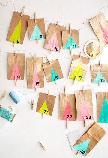 Handmade Hanging Advent Calendar