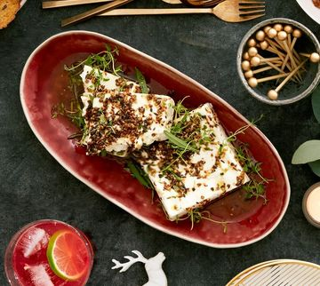 Holiday Dinner Appetizer Marinated Feta