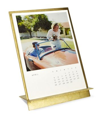 Customized Gifts Desk Brass Easel and Calendar