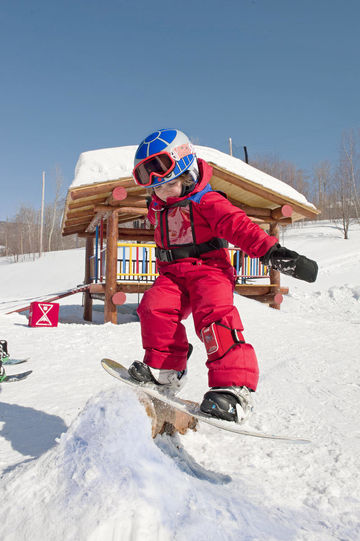 Smugglers Notch Vermont Toddler Snowboarding