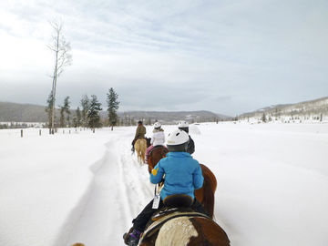 Vista Verde Guest Ranch Steamboat Springs Colorado Horseback Riding Snow Trails