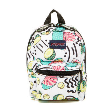 Backpack with fruit print