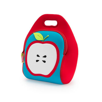 Insulated lunchbox with apple design