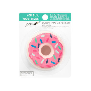 Donut tape dispenser with sprinkles