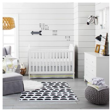 Cloud Island Nursery Collection Gray Bedroom Crib