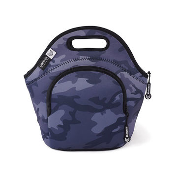 Neoprene lunch bag with camo design