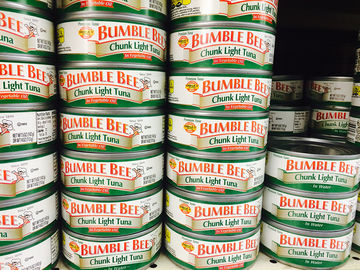 bumble bee chunk light tuna cans
