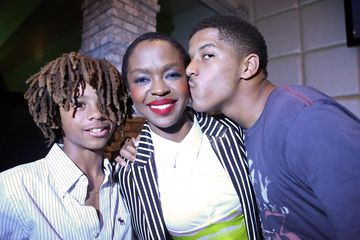 Lauryn Hill with Sons John and Zion