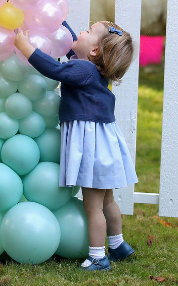 Princess Charlotte Playing With Balloons