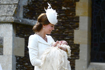 Kate Middleton with baby Charlotte