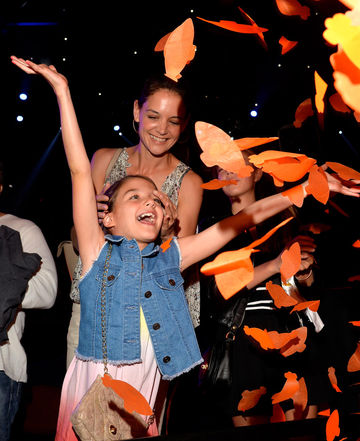 Katie Holmes and Suri Cruise at Kids Choice Awards