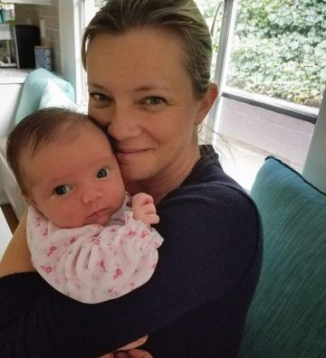 Amy Smart and Baby