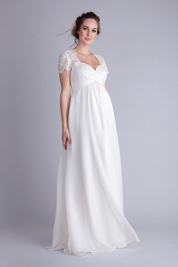 Ivory Maternity Wedding Gown