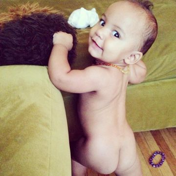 baby with naked bum