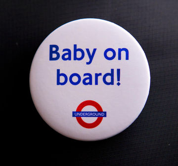 baby on board button for London Underground