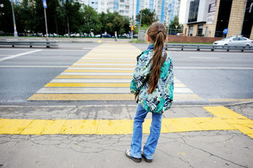 child crossing the street