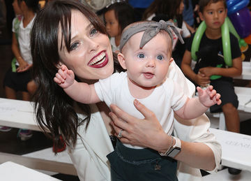 Coco Rocha with baby daughter Ioni