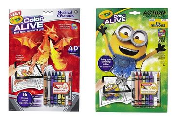 Crayola Color Alive Action Coloring Pages