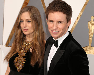 eddie and hannah redmayne at oscars 2016