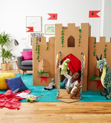 Cardboard Crafts Pop Up Castle