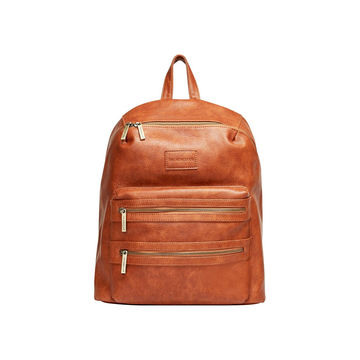 Faux Leather Brown Backpack